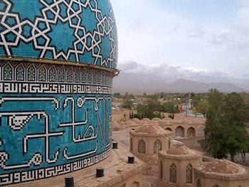 auf dem Dach der Shah Nematollah Vali- Grabanlage in Mahan - ©Eberhardt TRAVEL