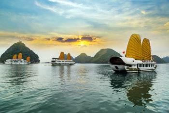 Dschunken in der Ha Long Bucht - Vietnam - ©Vladyslav Danilin - Fotolia