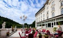 Jachymov - Kurhotel Radium Palace - Terrasse, Copyright: Lecebne lazne Jachymov a.s.