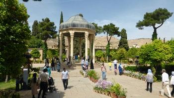 Shiraz, Grab des Dichters Hafiz - ©Frank Nimschowski