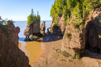 Die Gesteinsformationen Hopewell Rocks am Bay of Fundy - ©©Lucie - stock.adobe.com