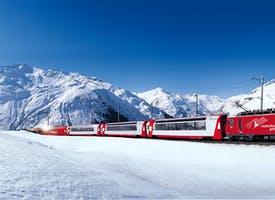 Reisebild: Wintertraum Schweizer Bahnen