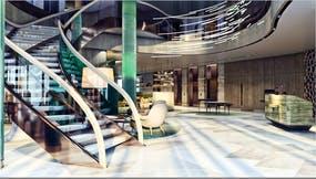 Eingangsbereich 5-Sterne-Hotel Hilton Swinoujscie, Copyright: Zdrojowa Gruppe