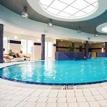 Schwimmbad mit Gegenstromanlage im Hotel Wolin, Copyright: Hotel Wolin