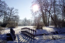 Winter im Fürst Pückler Park in Bad Muskau, Copyright: Kulturhotel Fürst Pückler Bad Muskau