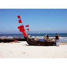 Boote am Strand von Baabe