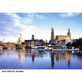 Dresden Silhouette mit Frauenkirche