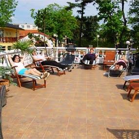 Franzensbad - Kurhaus Erika - Sonnenterrasse, Copyright: Kurhotel Erika Franzensbad