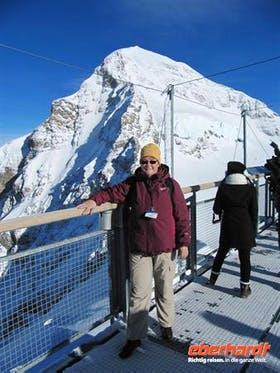 Ausflug auf das Jungfraujoch-Reiseleiterin Annette Silvester 2010