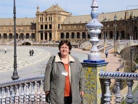 Auf dem Spanischen Platz in Sevilla