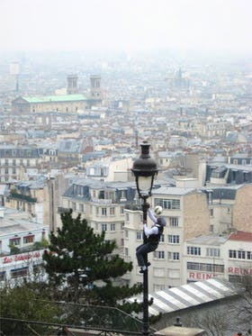 ueber den Daechern von Paris