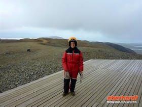 Vor der Gletschertour auf Island