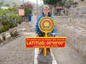 Ecuador am Äquatordenkmal