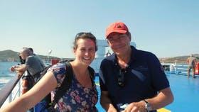 Heike Schlosser und Reiseleiter auf Sardinien