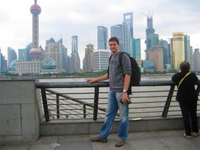 Am Bund in Shanghai