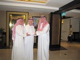 Jacob Spangenberg mit den Scheichs von Dubai :-)