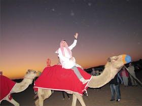 Jacob Spangenberg in der Wueste von Dubai