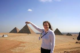 An den Pyramiden von Gizeh in Ã?gypten
