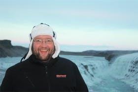 Am winterlichen Gullfoss (Island)