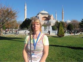 vor der Blauen Moschee in Istanbul