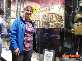 Dubai Goldsouk am groesster Goldring der Welt