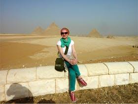 Aegypten - vor den Pyramiden von Gizeh