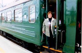 Bei der Fahrt mit der Flambahn in Norwegen