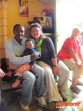 2010 zusammen mit unserem äthiop. Reiseleiter Haile in Addis Abeba