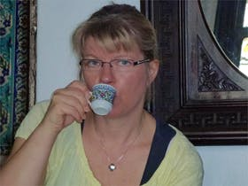 im Kaffeehaus Pierr Loti bei tuerkischem Kaffee