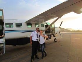 Nach dem Flug über die Nazca Linien