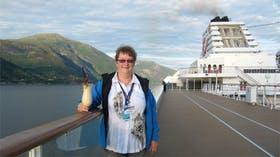 Auslaufen mit Mein Schiff im Sognefjord