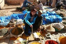 Marokko - auf dem Wochenmarkt