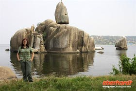 Reisebegleitung Isabel am Bismarckfelsen