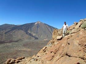 Abstieg vom Guajara mit Blick auf den Teide, Teneriffa, Spanien, 2010