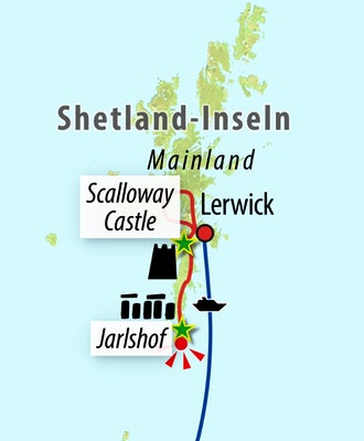 Ihre Reiseroute - Shetland-Inseln