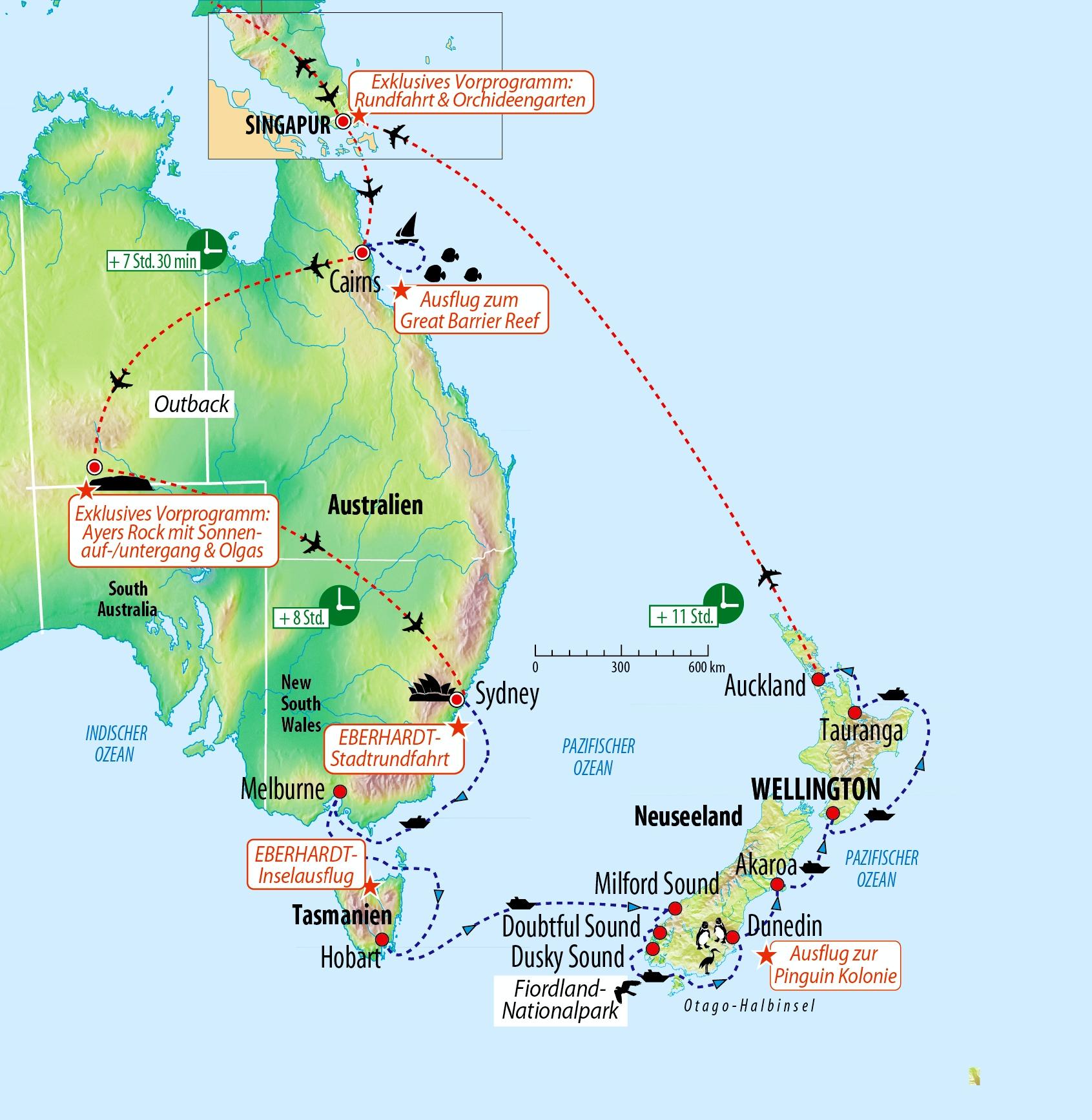 Rundreise und Kreuzfahrt Australien - Tasmanien - Neuseeland ...