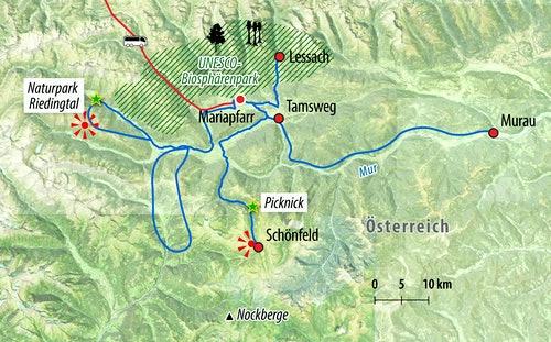 Ihre Radreise-Route in Österreich