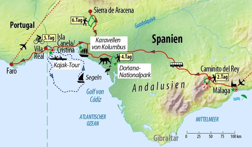Karte Andalusien Portugal.Andalusien Aktiv Naturreise In Süd Spanien