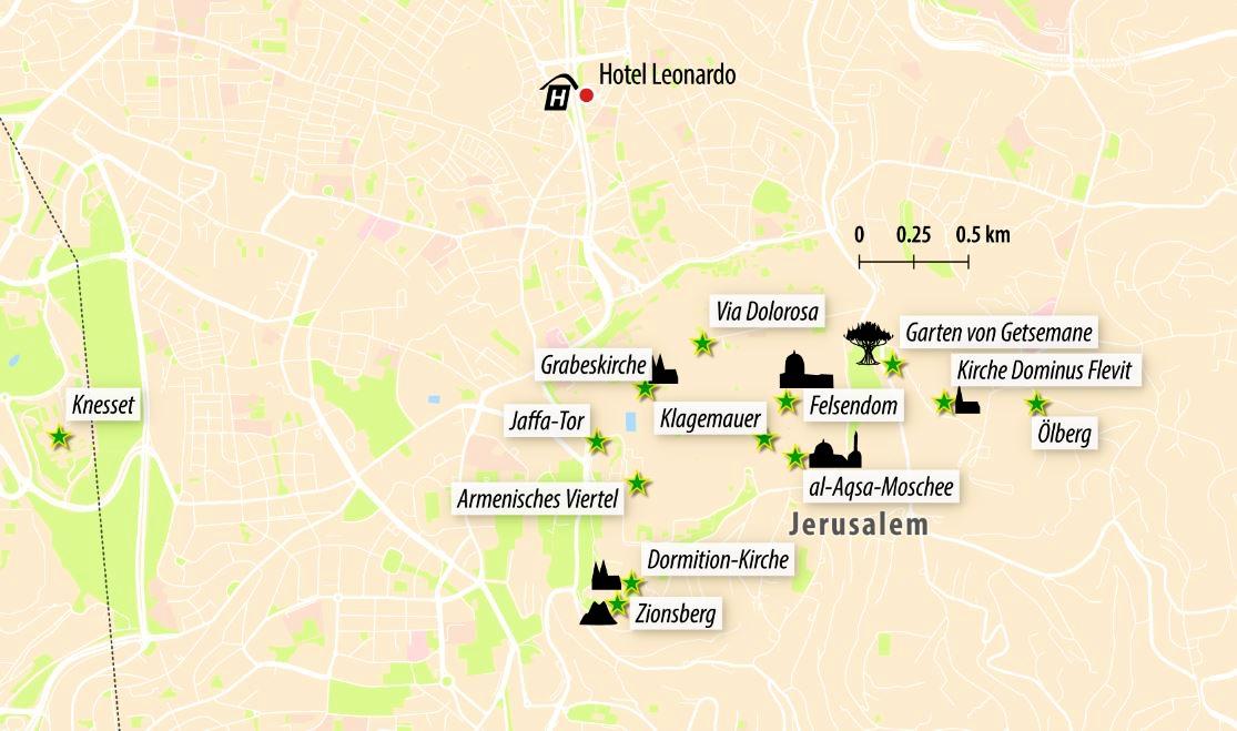 Jerusalem Karte Heute.Stadtereise Jerusalem Tel Aviv Hohepunkte In Israel