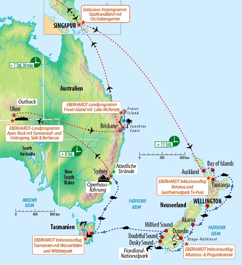 Kreuzfahrt Neuseeland, Tasmanien und Australien :: Saison 2019 ...