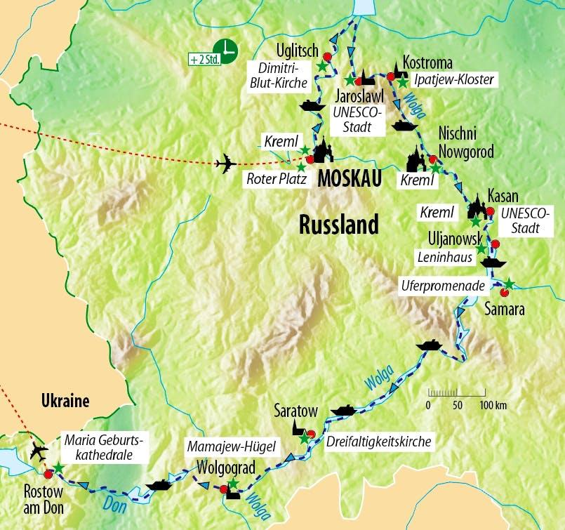 rostow am don karte Kreuzfahrt von Moskau bis Rostow am Don :: Saison 2019  rostow am don karte
