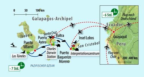 von Ecuador auf die Galapaos-Inseln