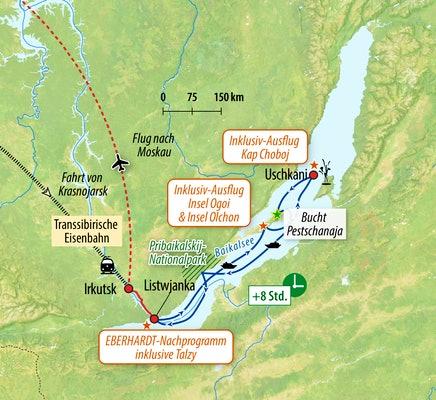 Kreuzfahrt auf dem Baikalsee