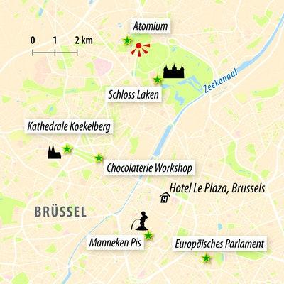 Stadtkarte Brüssel
