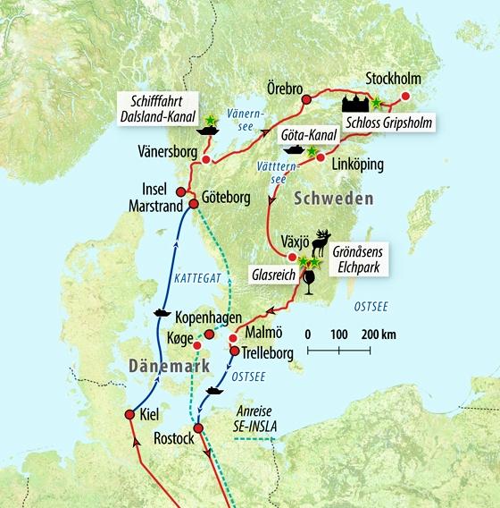 Skandinavien Karte Pdf.Rundreise Romantisches Schweden