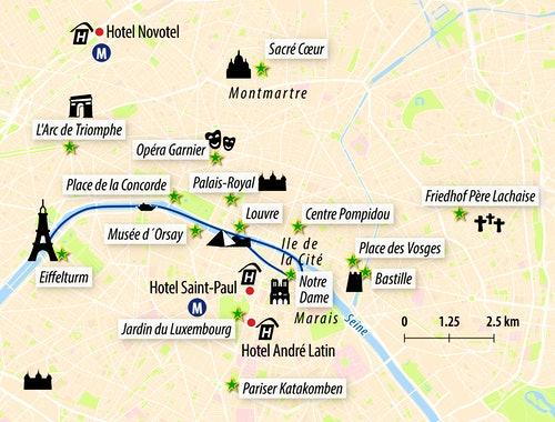 Stadtkarte Paris