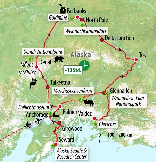 Rundreise Wildes Alaska