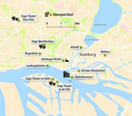 Stadtkarte von Hamburg