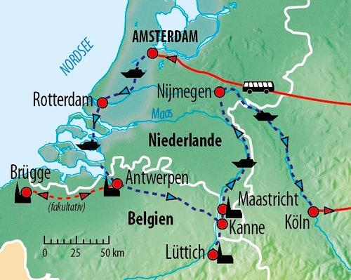 Ihre Flusskreuzfahrt-Route