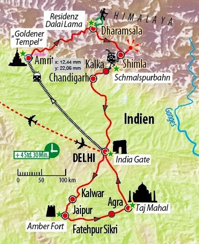 Goldenens Dreieck Indien und atemberaubendes Himalaya :: Saison 2019 ...